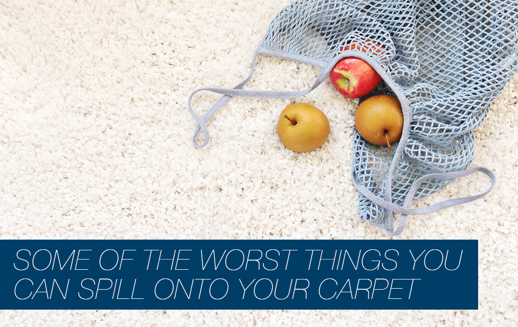 Some Of The Worst Things You Can Spill Onto Your Carpet